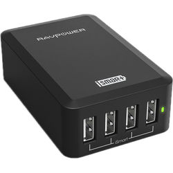 RAVPower 4-Port USB Charging Station (Black)