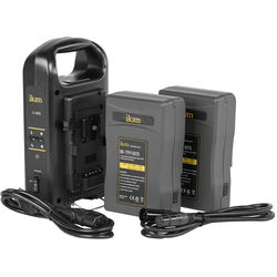 ikan Pro Power Kit with Two Batteries & Dual Charger (V-Mount)