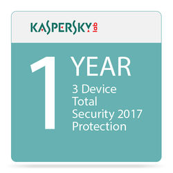 Kaspersky Total Security 2017 (3 Devices, 1-Year Protection)