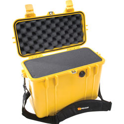 Pelican 1430 Top Loader Case with Foam (Yellow)