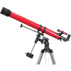 iOptron 900x70mm f/12.8 Refractor Telescope with EQ-2 German Equatorial Mount (Red)