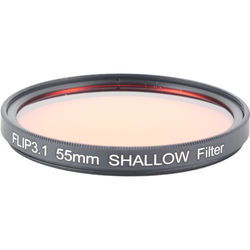 Flip Filters 55mm Threaded Underwater Color Correction Red Filter for GoPro 3/3+/4 (SHALLOW)