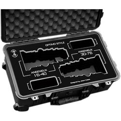Jason Cases Protective Case for Angenieux Optimo Style 16-40mm & 30-76 Lenses (Black Overlay)