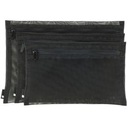 Incase Designs Corp Zip Pouch (3-Pack, Black)