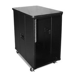 """iStarUSA 31.5"""" Deep 18 RU Simple Server Rack with Wood Top (Black)"""