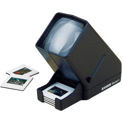 Kaiser Diascop 4 Slide Viewer with 3x Lens, Drop Chute, & Collecting Tray