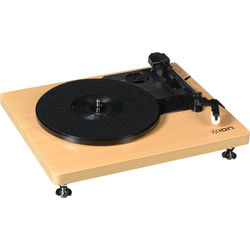 ION Audio Compact LP Stereo Turntable with USB (Woodgrain)