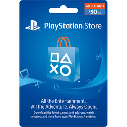sony playstation store 50 gift card 3002072 b h photo video. Black Bedroom Furniture Sets. Home Design Ideas