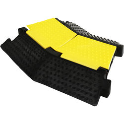 "Pyle Pro PCBLCO32 Two-Channel Left-Turn Cable Protective Cover Ramp (10.6 x 14.6"")"