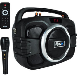 Pyle Pro Bluetooth BoomBox Microphone and Speaker System