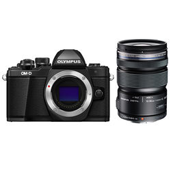 Olympus OM-D E-M10 Mark II Mirrorless Micro Four Thirds Digital Camera with 12-50mm Lens Kit (Black)