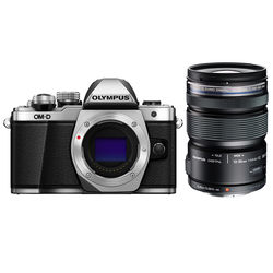 Olympus OM-D E-M10 Mark II Mirrorless Micro Four Thirds Digital Camera with 12-50mm Lens Kit (Silver)