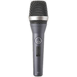 AKG D5 Handheld Supercardioid Dynamic Vocal Microphone with On/Off Switch