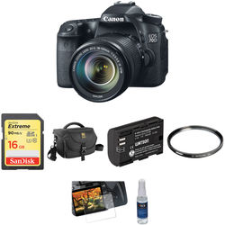 Canon EOS 70D DSLR Camera with 18-135mm f/3.5-5.6 IS STM Lens Basic Kit