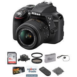 Nikon D3300 DSLR Camera Kit with 18-55mm Lens (Black)