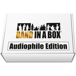 PG Music Band-in-a-Box 2017 Audiophile Edition for Windows with USB Hard Drive