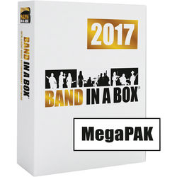 eMedia Music PG Music Band-in-a-Box 2017 MegaPAK - Backing Band / Accompaniment Software (Windows, Download)