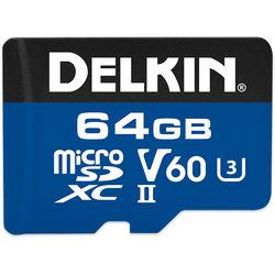 Delkin Devices 64GB 1900x microSDXC UHS-II Memory Card (V60)