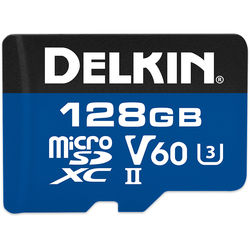 Delkin Devices 128GB 1900x microSDXC UHS-II Memory Card (V60)