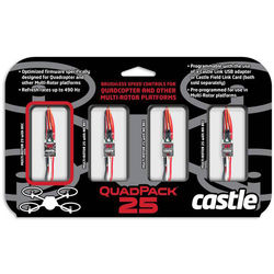 BLADE QuadPack 25 Multi-Rotor ESC (4-Pack, 25A, 1 with BEC)