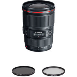 Canon EF 16-35mm f/4L IS USM Lens with UV & Circular Polarizer Filters Kit