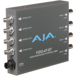 AJA FiDO Quad-Channel 3G-SDI to ST Fiber Mini Converter