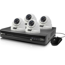 Swann 8-Channel 4MP NVR with 2TB HDD and 4 4MP Outdoor Night Vision Turret Cameras