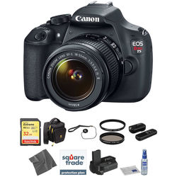 Canon EOS Rebel T5 DSLR Camera with 18-55mm Lens Deluxe Kit