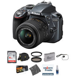 Nikon D3300 DSLR Camera Kit with 18-55mm Lens (Grey)