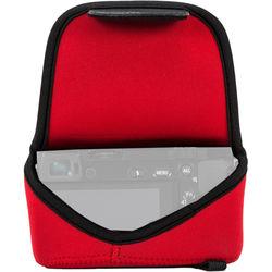 MegaGear Ultra-Light Neoprene Camera Case with Carabiner for Olympus PEN E-PL8 (Red)