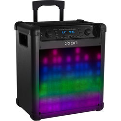 ION Audio Block Rocker Flash - Wireless Rechargeable Speaker with Sound-Reactive Lights