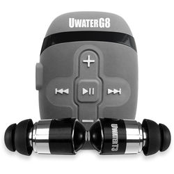 Fitness Technologies 8GB UwaterG8 Waterproof Action Music Player with Swim Buds (Metallic Gray)