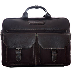 """Jill-E Designs Andrew Leather Briefcase for 15"""" Laptop (Brown)"""