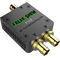 Freakshow 4K Mini 12G/HD/SD-SDI 1x2 Reclocking Distribution Amplifier