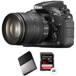 Nikon D810 DSLR Camera with 24-120mm Lens and Storage Kit