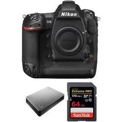 Nikon D5 DSLR Camera Body with Storage Kit (Dual CF Slots)