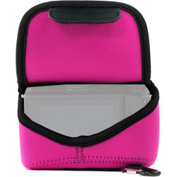 MegaGear Ultra-Light Neoprene Camera Case with Carabiner for Sony Cyber-shot DSC-RX10 III (Hot Pink)