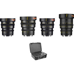 Veydra Mini Prime 4 Lens Kit with 6 Lens Case (Sony-E Mount, Feet)