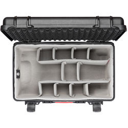 HPRC HPRC2550W Water-Resistant Hard Case with Second Skin and Built-In Wheels (Black)