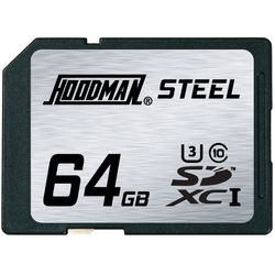 Hoodman 64GB SDXC Memory Card RAW STEEL Class 10 UHS-1