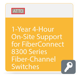 ATTO Technology 1-Year 4-Hour On-Site Support for FiberConnect 8300 Series Fiber-Channel Switches