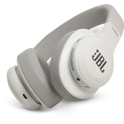 JBL E55BT Bluetooth Over-Ear Headphones (White)
