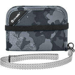 Pacsafe RFIDsafe V50 Anti-theft RFID Blocking Compact Wallet (Gray Camo)