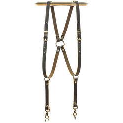 Funk Plus Skinny Ring Back Dual-Camera Cowhide Leather Harness (Brown)