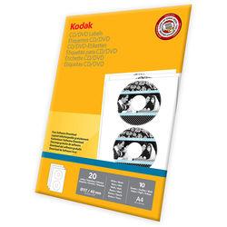 """Kodak CD/DVD Labels (A4 8.3 x 11.7"""", 20 Labels)"""