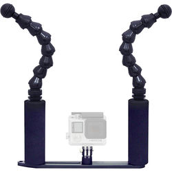 """Bigblue GoPro Camera Tray with Two 7"""" Flexible Arms"""