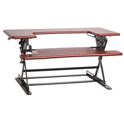 Halter ED-600 Height Adjustable Desk Sit / Stand Desktop (Cherry)