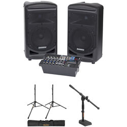 Samson Expedition XP800 Kit with Two Speaker Stands and Mixer Stand