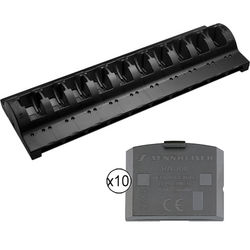 Sennheiser 10-Bay Charger and Power Supply Kit with Ten BA300 Batteries
