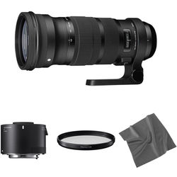 Sigma 120-300mm f/2.8 DG OS HSM Lens with 2x Teleconverter Kit for Canon EF